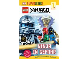 SUPERLESER LEGO NINJAGO Ninja in Gefahr 1 Lesestufe Sach Geschichten fuer Leseanfaenger