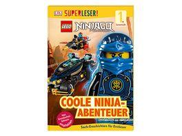SUPERLESER LEGO NINJAGO Coole Ninja Abenteuer 1 Lesestufe Sach Geschichten fuer Leseanfaenger