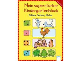 Mein superstarker Kindergartenblock Zaehlen Suchen Malen