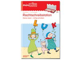 miniLUeK Uebungshefte miniLUeK Deutsch 1 2 Klasse Deutsch Rechtschreibstation