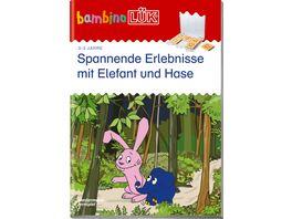 bambinoLUeK Uebungshefte bambinoLUeK Kindergarten 3 4 5 Jahre Spannende Erlebnisse mit Elefant und Hase