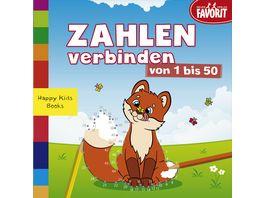 Zahlen verbinden von 1 50 Happy Kids Books