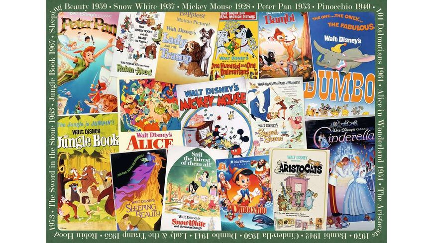Ravensburger Puzzle Disney Vintage Movie Poster 1000 Teile