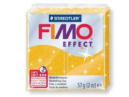 FIMO 8020 112 effect Ofenhaertende Modelliermasse glitter gold