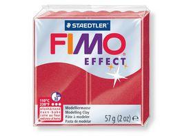 FIMO 8020 28 effect Ofenhaertende Modelliermasse metallic rubinrot