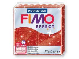 FIMO 8020 202 effect Ofenhaertende Modelliermasse glitter rot