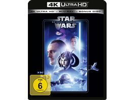 Star Wars Episode 1 Dunkle Bedrohung 4K Ultra HD Blu ray 2D Bonus Blu ray