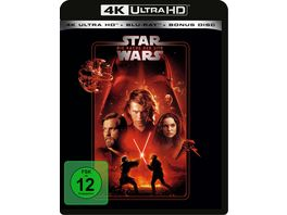 Star Wars Episode 3 Die Rache der Sith 4K Ultra HD Blu ray 2D Bonus Blu ray