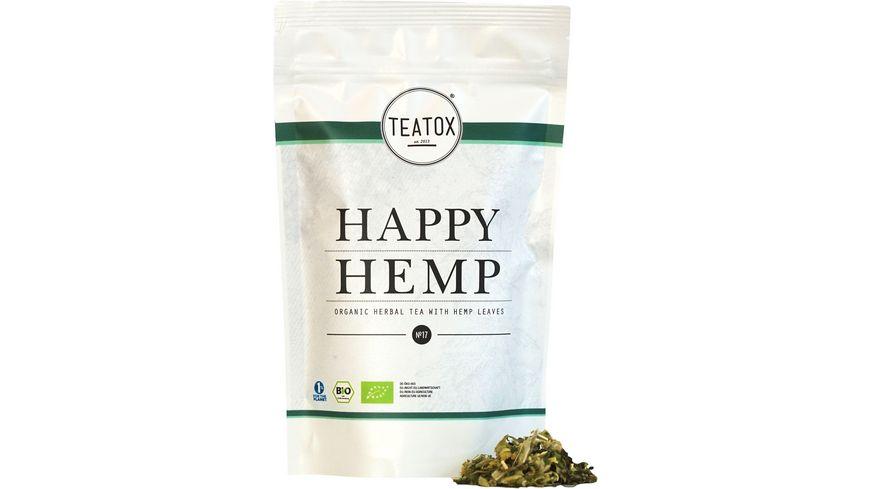 TEATOX Happy Hemp - Organic Herbal Tea with Hemp Leaves, Ziplock