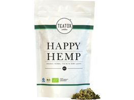 TEATOX Happy Hemp Organic Herbal Tea with Hemp Leaves Ziplock