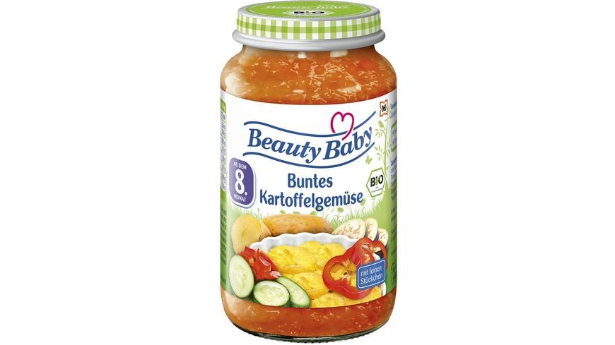 Beauty Baby Babygläschen Brei Buntes Kartoffelgemüse