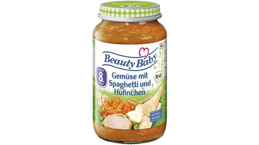 Beauty Baby Babygläschen Brei Gemüse mit Spaghetti und Hühnchen