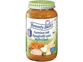 Beauty Baby Babyglaeschen Brei Gemuese mit Spaghetti und Huehnchen
