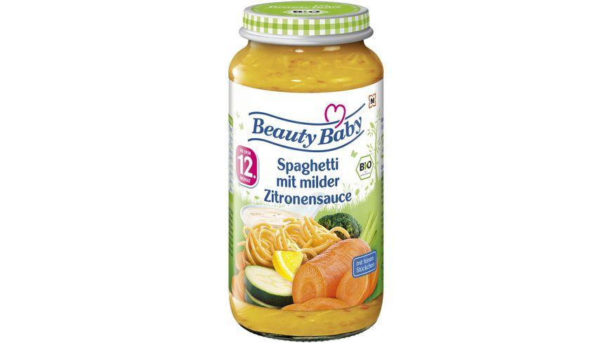 Beauty Baby Babygläschen Brei Spaghetti mit milder Zitronensauce