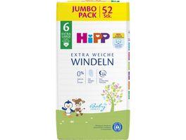 HiPP Babysanft Windeln Extra Large 6 Jumbo 15 kg Groesse 98 52 St