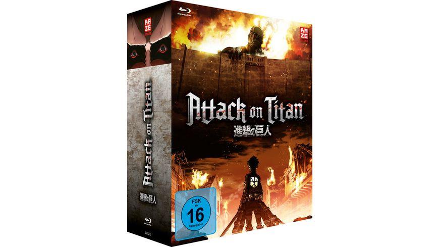 Attack on Titan 1 Staffel Gesamtausgabe Blu ray Box 4 BRs