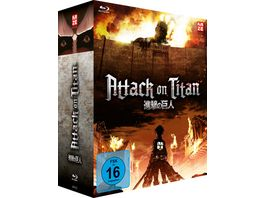 Attack on Titan 1 Staffel Gesamtausgabe Blu ray Box 4 BRs
