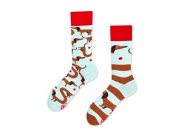 MANY MORNINGS Unisex Socken Sausage Dog Regular 1 Paar