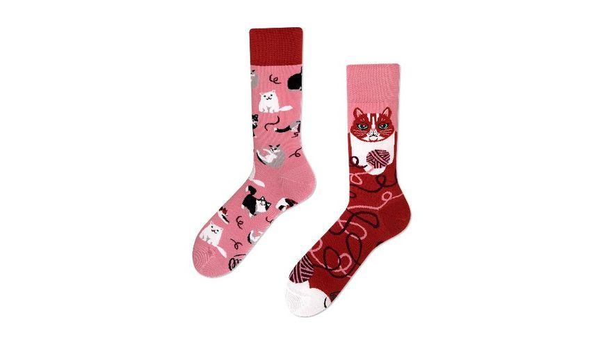 MANY MORNINGS Unisex Socken Playful Cat Regular 1 Paar