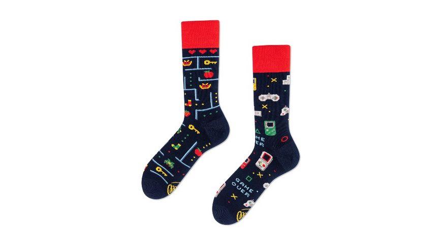 MANY MORNINGS Unisex Socken Game Over Regular 1 Paar