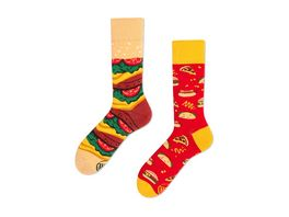 MANY MORNINGS Unisex Socken Fast Food Regular 1 Paar