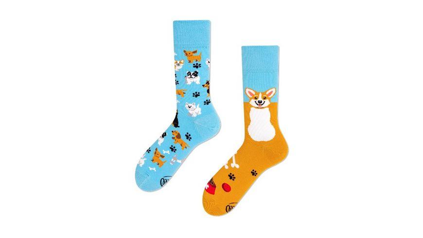 MANY MORNINGS Unisex Socken Playful Dog Regular 1 Paar