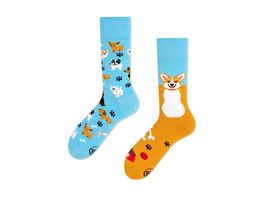MANY MORNINGS Unisex Socken Playful Dog Regular 1 Paar