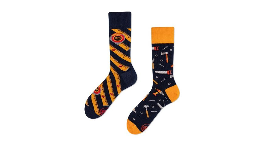 MANY MORNINGS Unisex Socken The Handyman Regular 1 Paar