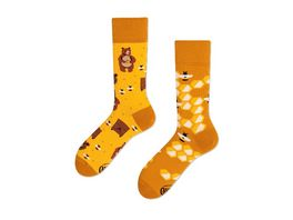 MANY MORNINGS Unisex Socken Honey Bear Regular 1 Paar