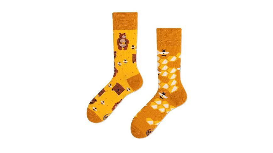 MANY MORNINGS Unisex Socken Honey Bear Regular 1 Paar