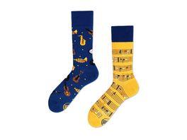 MANY MORNINGS Unisex Socken Music Notes Regular 1 Paar