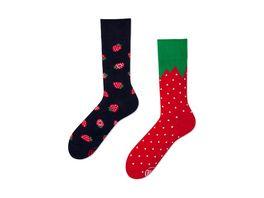 MANY MORNINGS Unisex Socken Strawberries Regular 1 Paar