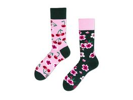 MANY MORNINGS Unisex Socken Cherry Blossom Regular 1 Paar