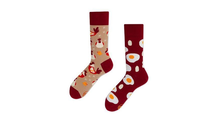 MANY MORNINGS Unisex Socken Egg And Chicken Regular 1 Paar