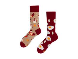 MANY MORNINGS Unisex Socken Egg And Chicken Regular 1 Paar