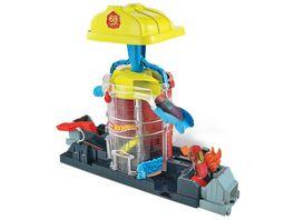 Mattel Hot Wheels City Feuerwehr Einsatzzentrale Spielset