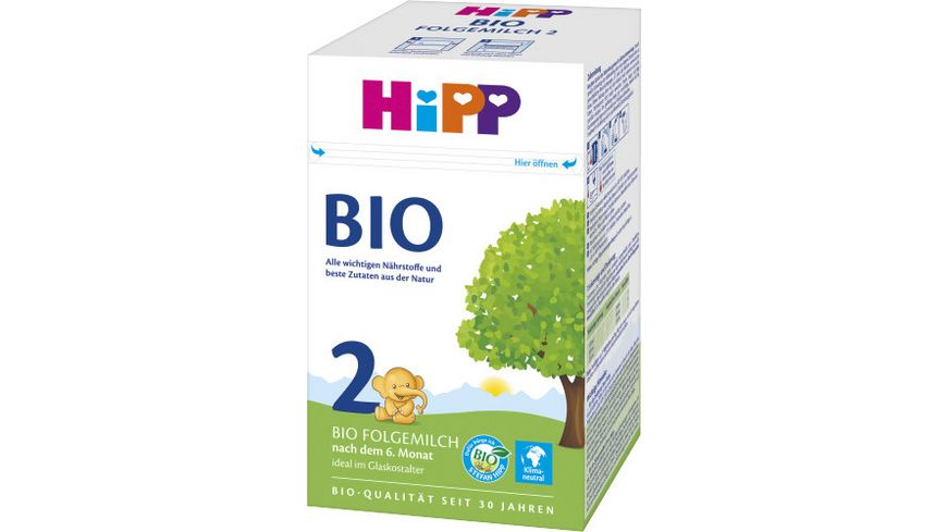 HiPP Milchnahrung Bio 600g (2 x 300 g): HiPP 2 Bio-Folgemilch, nach dem 6. Monat