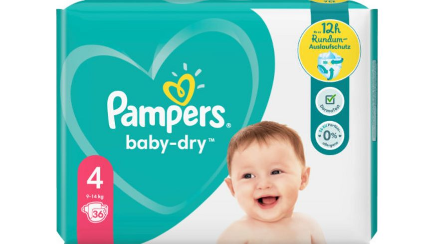 Pampers BABY DRY Windeln Gr.4 Maxi 9-14kg Einzelpack 36ST