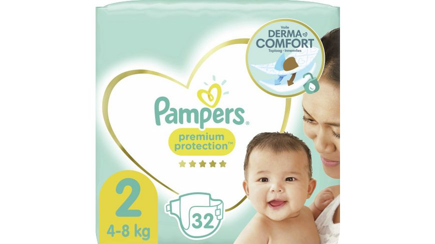 Pampers Premium Protection Größe 2, 4-8kg Tragepack