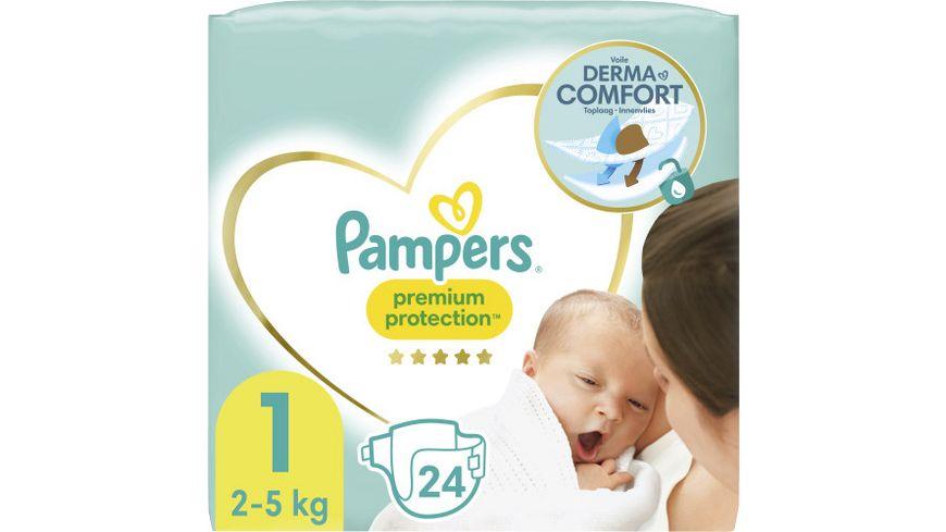 Pampers PREMIUM PROTECTION NEW BABY Windeln Gr.1 Tragepack Sortenreines SRP