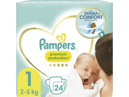 Pampers Premium Protection New Baby Groesse 1 Newborn 2 5kg Tragepack