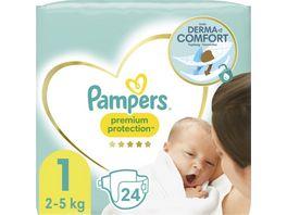 Pampers PREMIUM PROTECTION NEW BABY Windeln Gr 1 Tragepack Sortenreines SRP