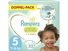 Pampers PREMIUM PROTECTION Windeln Gr 5 Junior 11 16kg Doppelpack 52ST