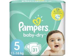 Pampers BABY DRY Windeln Gr 5 Junior 11 16kg Einzelpack 31ST