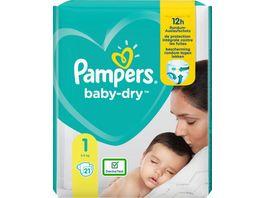 Pampers BABY DRY Windeln Gr 1 Newborn 2 5kg Tragepack 21ST