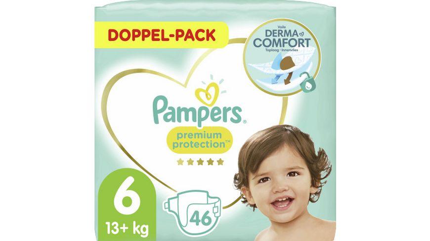Pampers PREMIUM PROTECTION Windeln Gr.6 Extra Large 13-18kg Doppelpack 46ST