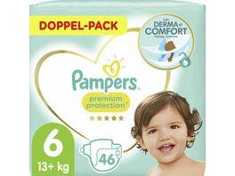 Pampers PREMIUM PROTECTION Windeln Gr 6 Extra Large 13 18kg Doppelpack 46ST