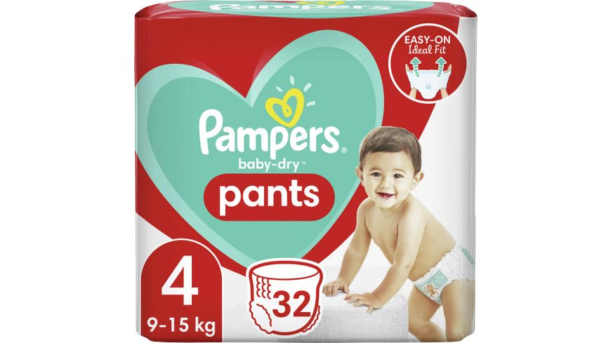 Pampers BABY DRY PANTS Windeln Gr.4 Maxi 9-15kg Einzelpack 32ST