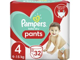 Pampers BABY DRY PANTS Windeln Gr 4 Maxi 9 15kg Einzelpack 32ST