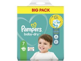 Pampers BABY DRY Windeln Gr 7 Extra Large 15 kg Doppelpack 50ST